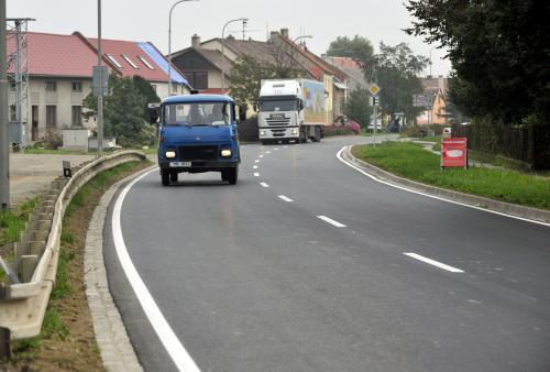 Provoz na opravené silnici