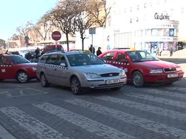 Taxi u brněnského nádraží