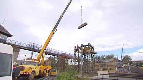 Rozestavěný most v Bohumíně