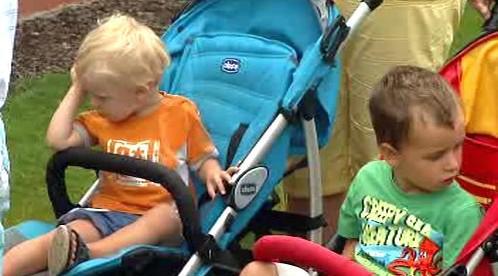 Děti si užívají pobyt v Beskydech