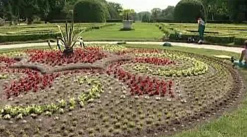 Květinový záhon na pozemku Zahradnické fakulty