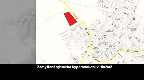 Výřez z územního planu města Hlučína