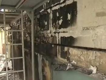 Panelový dům v Brně Bystrci po požáru