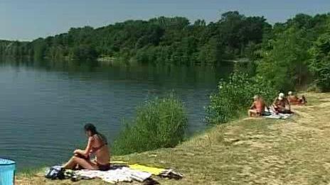 Letní den u Tovačovského jezera