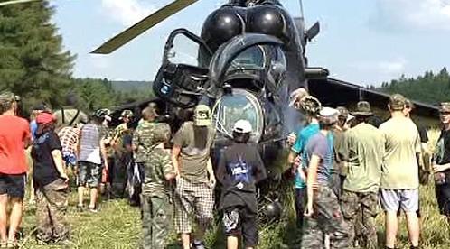Vojenský vrtulník MI24