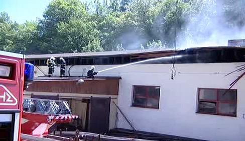 Požár pily v Prlově