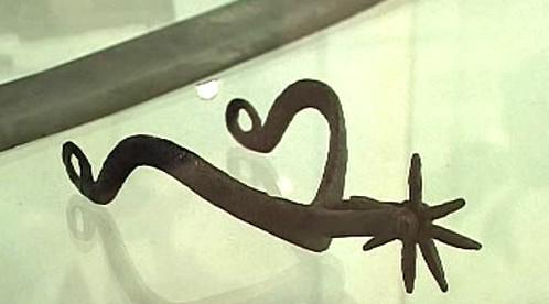 Jezdecká ostruha z 15. století