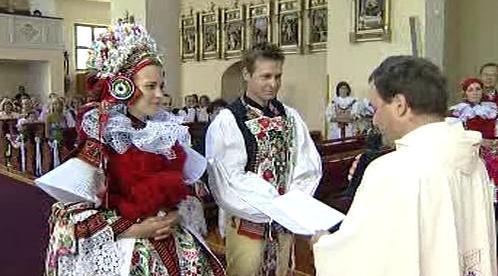 Svatební obřad ve Vlčnově