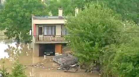 Zaplavený dům