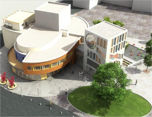 Vizualice přístavby Divadla Loutek Ostrava