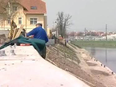 Nová zeď ochrání Uherské Hradiště před velkou vodou