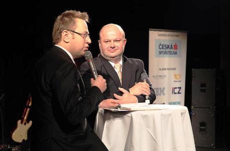 Václav Moravec a Martin Pecina na konferenci