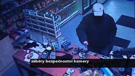 Pachatel na záběru bezpečnostní kamery