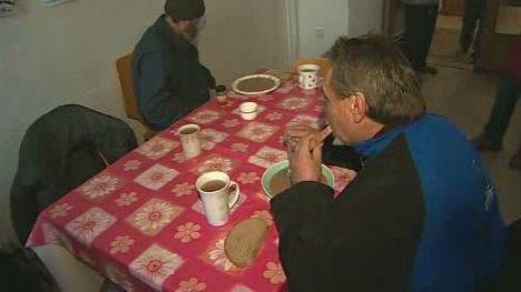 Oběd v azylovém domě
