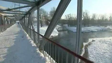 Most přes Ostravici u Černé louky