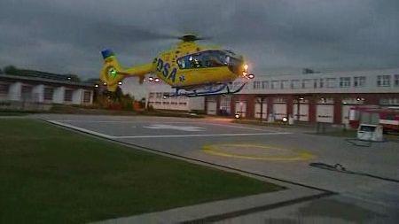 Přistávající vrtulní letecké záchranky