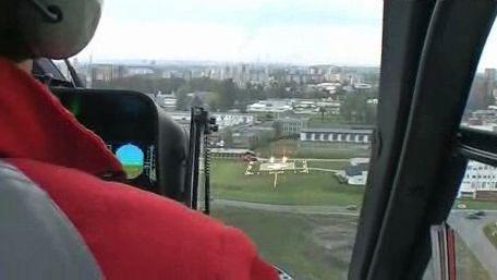 Pohled na heliport z vrtulníku