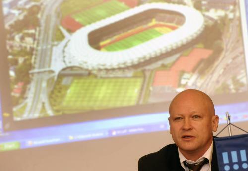 Ivan Hašek a vizualizace projektu ostravského stadionu