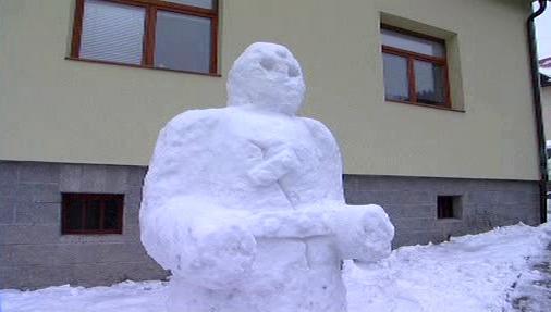 Sněhový Golem z Držkové