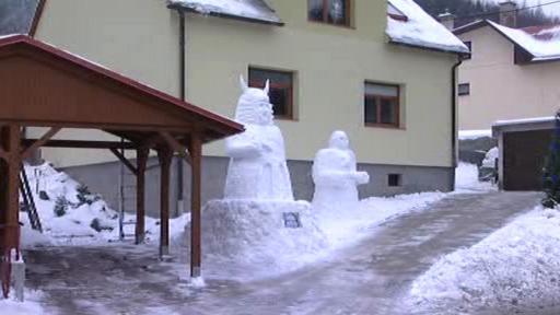 Bájné sochy v obci Držková