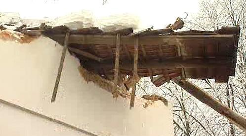 Zřícená střecha