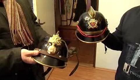 Historické hasičské přilby