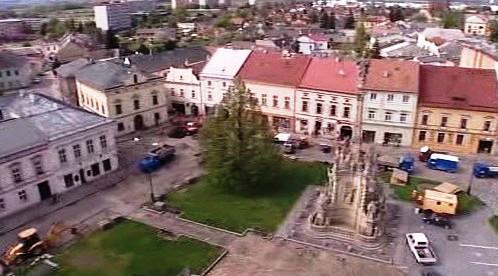 Masarykovo náměstí v Uničově před opravou