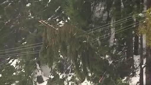 Poškozené elektrické vedení