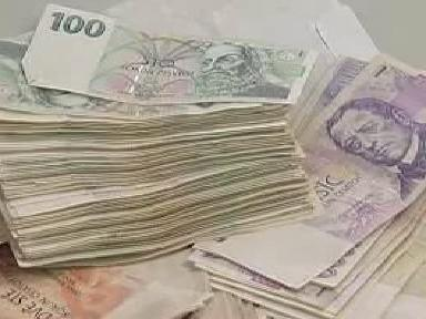 Peníze zabavené gangu