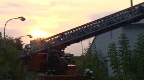 Zásah hasičů při požáru