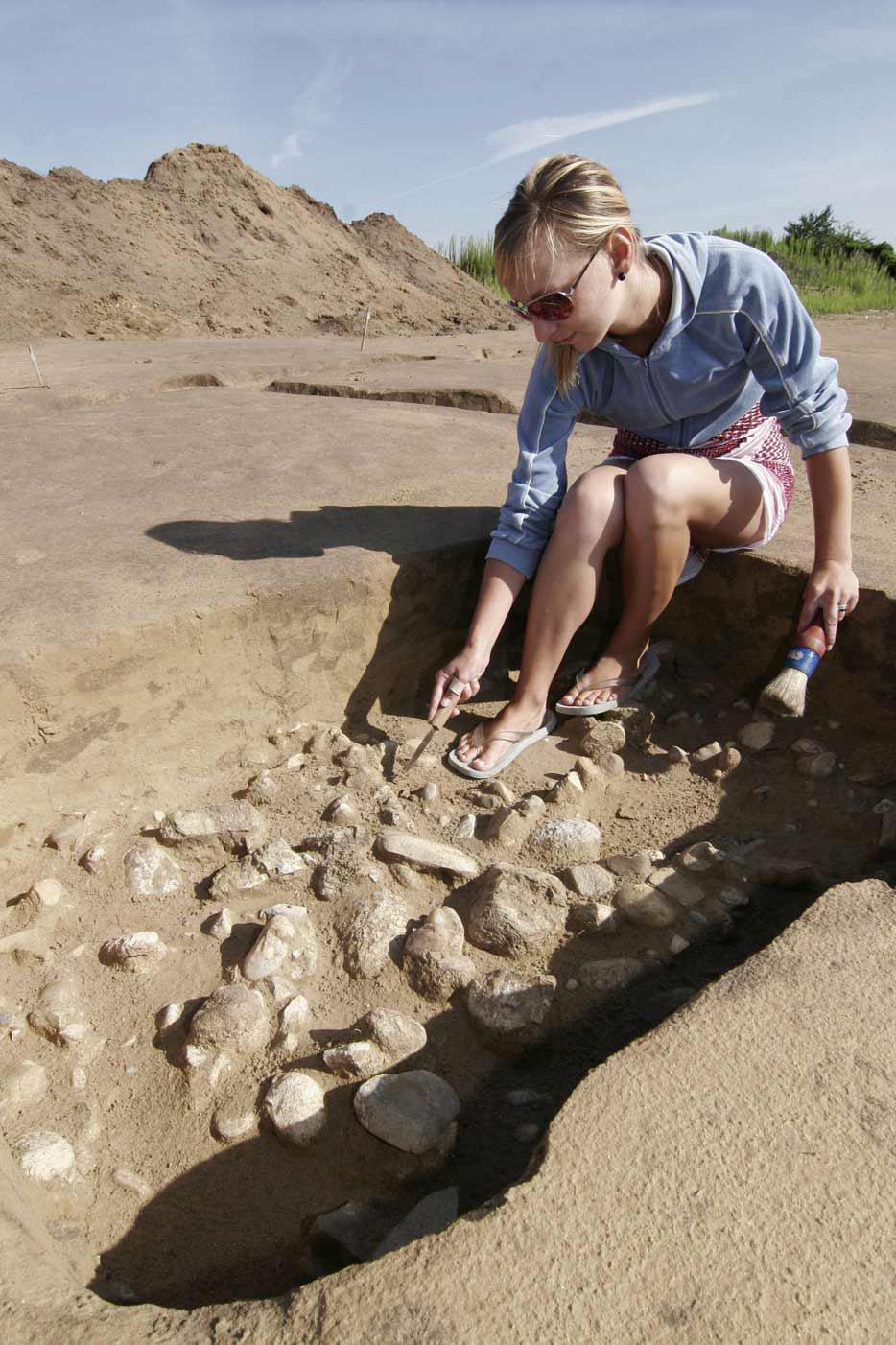 Archeologické práce v Pasohlávkách