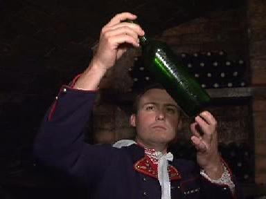 Vinař zkoumá vzorek vína