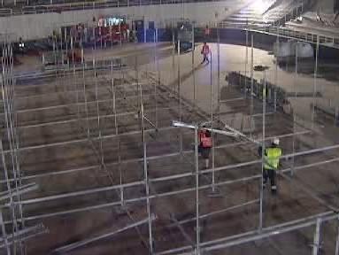 Rekonstrukce hrací plochy v hale Rondo