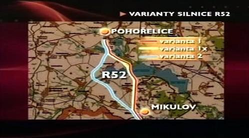 Navrhované varianty R52