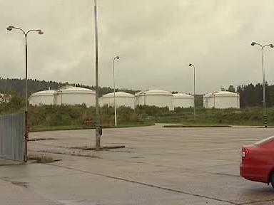 Zásobníky paliva ve Šlapanově