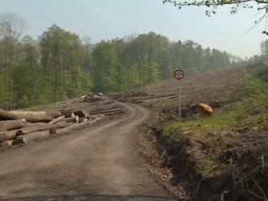 Trasa silnice mezi Opavou a Ostravou