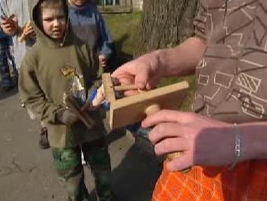 Dřevěná velikonoční klapotka