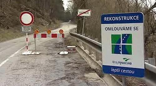 Oprava silnice na Vysočině