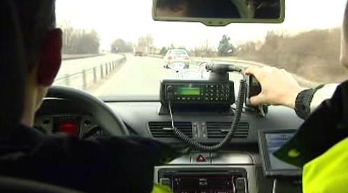 Policejní Passat v akci