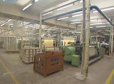 Výrobní hala textilky Slezan Frýdek-Místek