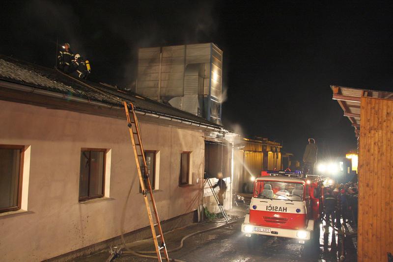 Požár výrobní haly