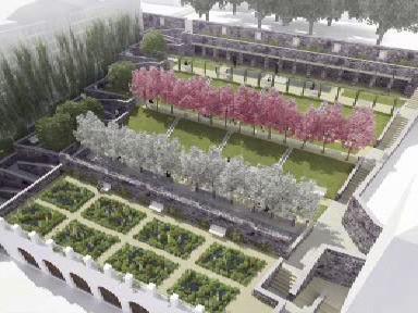 Studie rekonstrukce kapucínské zahrady