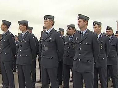Vojáci letecké základny v Náměšti n.O.