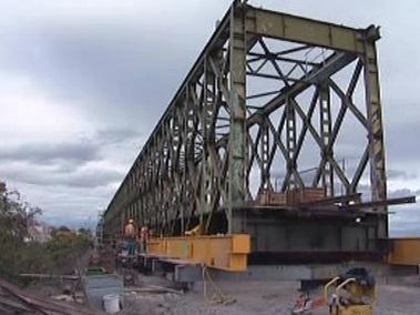 Provizorní železniční most ve Znojmě