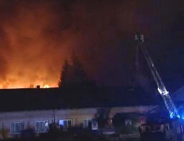 Požár komplexu Lignum v Hodoníně