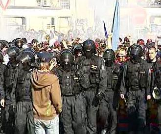 Průvod policistů