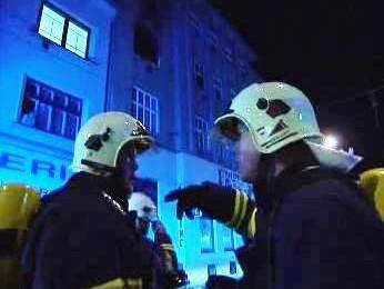 Požár bytů v Brně