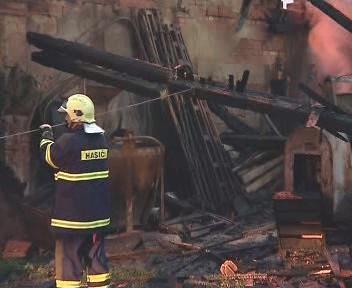 Budova po požáru