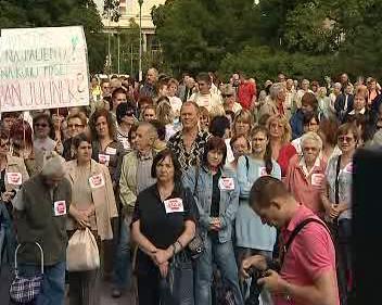 Demonstrace proti reformám ve zdravotníctví