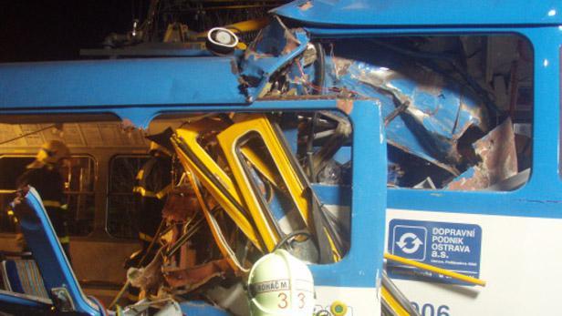 Nehoda tramvají v Ostravě
